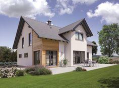 """Das Haus """"L 105.10"""" von FINGERHUT präsentiert auf 162,84 qm komfortables Wohnen in modernem Stil – mit Charme und Wohlfühleffekt."""
