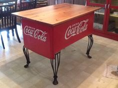 My Repurposed Coca Cola cooler into kitchen island.