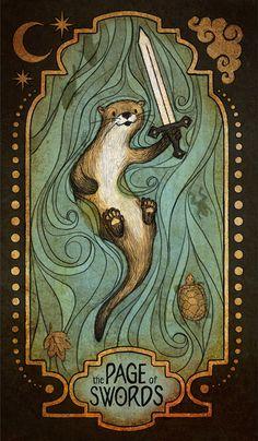Page of Swords - Animal Tarot on Behance