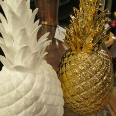 """Pineapple Statuette - Gold   Clayton Gray Home   symbol of """"Welcome Home"""" - makes a great housewarming or wedding gift"""