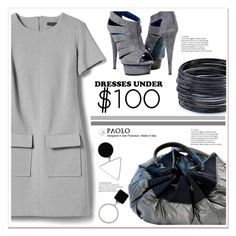 """Dresses Under $100 and PaoloShoes"" by spenderellastyle ❤ liked on Polyvore featuring Banana Republic and ABS by Allen Schwartz"