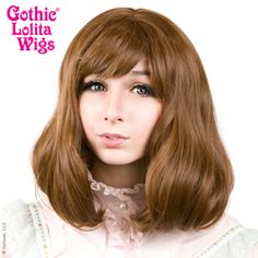 Gothic Lolita Wigs®  Daily Doll™ Collection - Golden Chestnut Brown Mix Have You Had Your Dosage of the DAILY DOLL!?  The Daily Doll is BACK and more nutritious than ever! #wig #wig4wig #cute #kawaii #glw #gothiclolitawigs #rockstarwigs #dolluxe #naturalwig #hairstyle #pretty #fashion #lolita #pretty