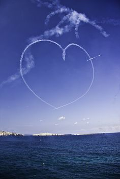 sky writing heart