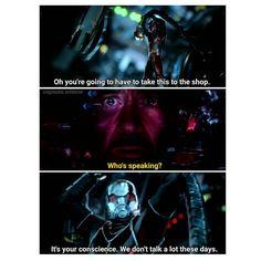 Hahahaha Ant Man & Iron Man