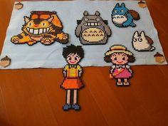 Totoro, Chihiro, Kiki et ses amis perles  à repasser hama