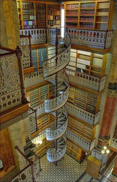 Spiral Staircase Law Library Des Moines Iowa