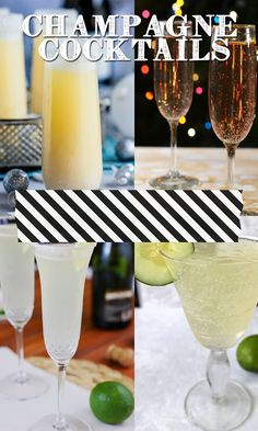 Excited to try a few of these champagne cocktails for new year's eve drinks!