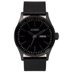 Montre Nixon The Sentry Leather / All Black A105001