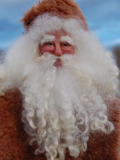 OOAK Victorian Santa with hand sculpted face. 11-2014  TK