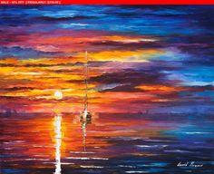 Lueurs du ciel  couteau marin contemporain moderne Art déco