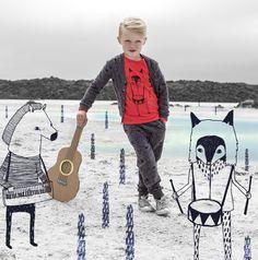 IgloandIndi SS15 collection - Songs from the Horizon. Icelandic design, Kids wear, Children's fashion, Urban kids, Blue lagoon, Iceland