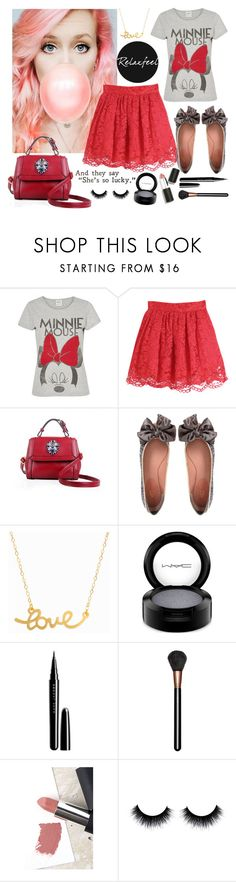 """""""Relaxfeel #7"""" by diva1 ❤ liked on Polyvore featuring Vero Moda, Relaxfeel, KG Kurt Geiger, Minnie Grace, MAC Cosmetics, Marc Jacobs, Sigma, red and lace"""