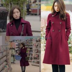 """662 Likes, 6 Comments - @kdrama_fashion on Instagram: """"Shin Se-Kyung wore TINT ROSE Double Breasted Coat ₩256,000 (USD 233) in Black Knight Drama Episode…"""""""