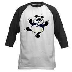 Dancing panda Baseball Jersey.  Cafepress  Cardvibes  Tekenaartje All  Friends f51d711de