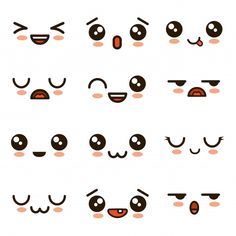 Niedliche Gesichter Kawaii Emoji Cartoon Premium Vektor - Draw me in! - Niedliche Gesichter Kawaii Emoji Cartoon Premium Vektor – Draw me in! Cute Cartoon Eyes, Cartoon Smile, Cartoon Faces, Emoji Faces, Joker Cartoon, Cartoon Heart, Cute Cartoon Characters, Meme Faces, Cute Eyes Drawing