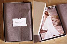 Caja + papel seda para entregar fotos