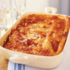 Easy Meatless Manicotti from Cooking Light