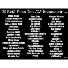 North American kids from the 1970s remember...