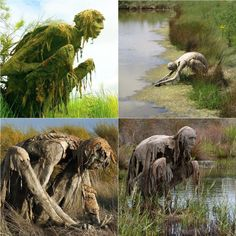 Swamp creatures in a French nature reserve by Sculptor Sophie Prestigiacomo. Swamp creatures in a French nature reserve by Sculptor Sophie Prestigiacomo. Fantasy Creatures, Mythical Creatures, Dark Fantasy, Fantasy Art, Swamp Creature, Posca Art, French Sculptor, Ange Demon, Arte Obscura
