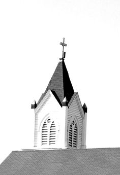 Church Steeple - Church off of Canal Street, New Orleans, LA. by ShandyNicole