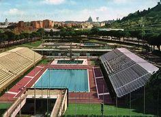 Foto storiche di Roma - Foro Italico, piscina olimpica Anno: cartolina viaggiata 1960