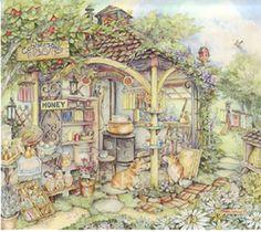 Kim Jacobs Apiary~ my idea of a home / farm market I would love to run!