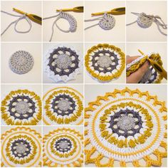 How to Make Handmade Crochet Mandala step by step DIY tutorial instructions Pop Tab crochet method Tutorial !!! ❥Teresa Restegui http://www.pinterest.com/teretegui/❥