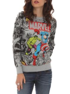 Hot Topic: Marvel Avengers Reversible Girls Pullover Top, its reversible :O