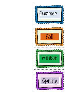 Good Morning Mrs. Rubie: A Four Seasons Foldable Freebie!