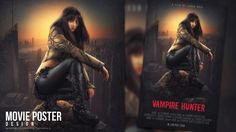 In this tutorial, you will learn how to create a movie poster with grunge texture in Photoshop.