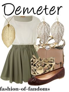 Fandom Fashion. I swear like every Demeter outfit is what I wear all the time!