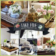 Take Five:  Coffee Table Vignettes