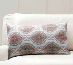 $20.  Sybil Printed Silk Lumbar Pillow Cover