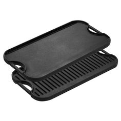 For when you run out of coals- Cast Iron Reversible Griddle and Grill Pan