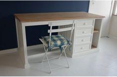 Wood & white Desk - Bureau sur mesure