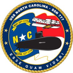 USS North Carolina (SSN-777), a Virginia-class attack submarine, is the fourth ship of the United States Navy named for the 12th state. The contract to build her was awarded to Northrop Grumman Newport News on 30 September 1998 and her keel was laid down on 24 May 2004. She was launched on 5 May 2007.