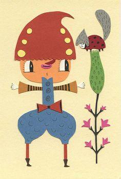 Original papercut character