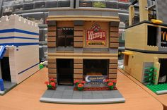 LEGO City Fast Food Hamburger Restaurant Open Late via Etsy