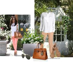 CAbi STYLE IT! #CAbi #Spring Creamsicle Bree Jean paired w/A FAB White Blouse ... Neutral shoes... GO!