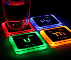 Radioactive Elements Coasters http://www.thisiswhyimbroke.com/radioactive-elements-coasters