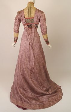 1910 Mauve Silk Print Afternoon Dress