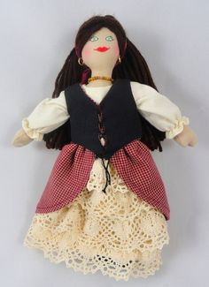 Pirate Girl Doll in Lacy Dress by JoellesDolls on Etsy