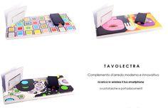 Tavoletta  Tavolectra  carica smartphone con cover per Iphone o Samsung inclusa!