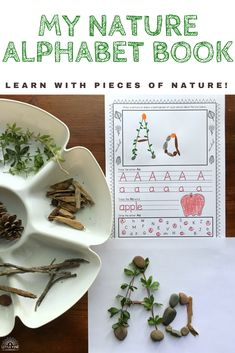 Do your students love spending time playing and learning outdoors? Try using My Nature Alphabet Book as a fun and hands-on way to teach the alphabet and beginning sounds. This resource comes with 3 leveled options to differentiate for student needs. Enrichment Activities, Nature Activities, Alphabet Activities, Preschool Activities, Educational Toys For Preschoolers, Educational Toys For Kids, Abc Crafts, Letter A Crafts, Teaching The Alphabet