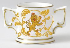 Royal Crown Derby The Queen's Beasts Collection Lion Mini Loving Cup