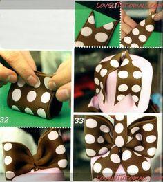 МК Многоярусный торт с бантиком в горошек-Tiered Cakes with bow step by step - Мастер-классы по украшению тортов Cake Decorating Tutorials (How To's) Tortas Paso a Paso