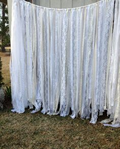 Lace Wedding & Special Event Garland Backdrop  8 ft by ohMYcharley, $145.00
