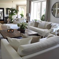 This is the furniture layout I want. home decor ideas cozy living rooms Large Living Room, Home And Living, House Interior, Minimalist Living Room, Couches Living Room, Home, Rustic Living Room Design, Cozy Living Rooms, Furniture Layout