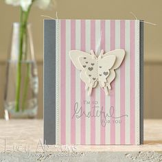 Grateful for You Butterfly Card