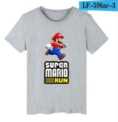 Super Mario Run Cartoon T-shirt Men Hip Hop Short Sleeve T Shirts and T Shirt Men Luxury Print in Super Mario Tee Shirts